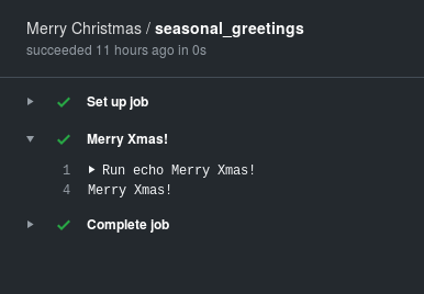 Merry Xmas from a GitHub Action